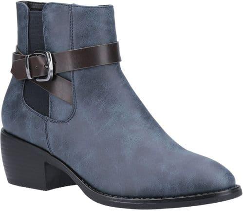 Divaz Farrah Ladies Mid Boot Blue